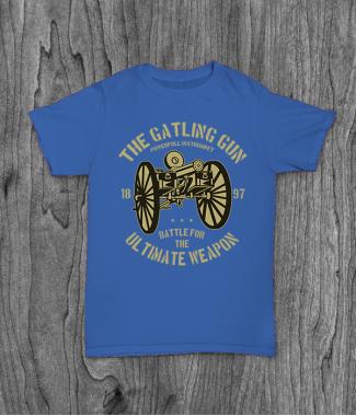 Футболка с принтом The Gatling Gun