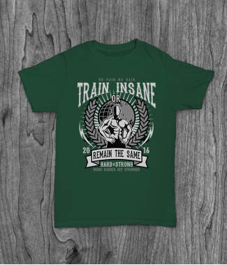 Футболка с принтом Train Insane