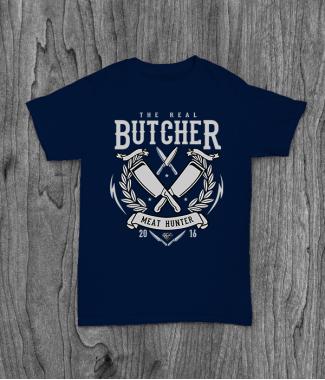 Футболка с принтом The Real Butcher