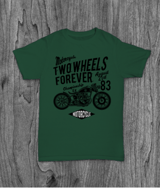 Футболка с принтом Two Wheels Forever 1