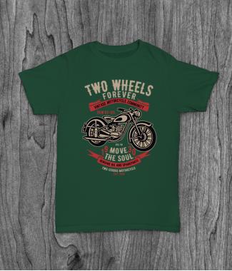Футболка с принтом Two Wheels Forever 2