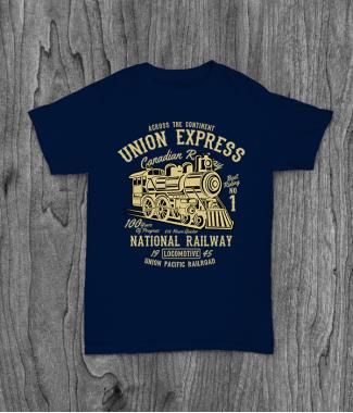 Футболка с принтом Union Express