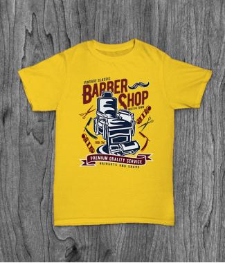 Футболка с принтом Vintage Barber Shop