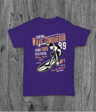 Футболка с принтом Wave Conqueror