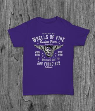 Футболка с принтом Wheels Of Fire