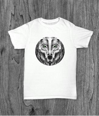Футболка с принтом Guardian Spirit ( Wolf )
