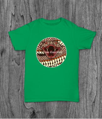 Футболка с принтом Wild And Dangerous ( Snake )