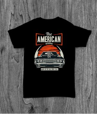 Футболка с принтом American Muscle Car