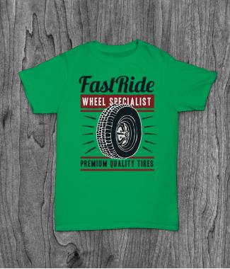 Футболка с принтом Fast Ride