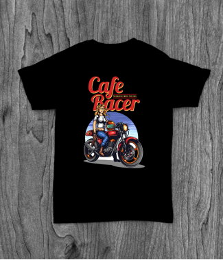 Футболка с принтом Cafe Racer