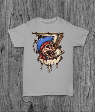 Футболка с принтом PirateSkull