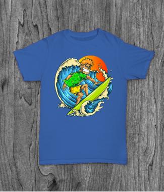 Футболка с принтом Pro Surfer
