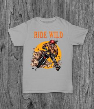 Футболка с принтом Ride Wild