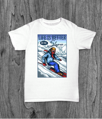 Футболка с принтом Ski Life