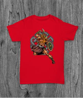 Футболка с принтом Viking Warrior