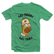 Футболка с принтом No brain no pain