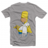 Футболка с принтом Гомер с пончиком