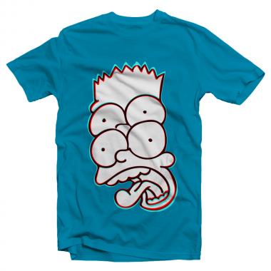 Футболка с принтом Барт Симпсон