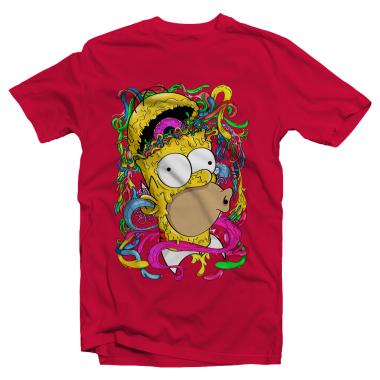 Футболка с принтом Crazy Homer