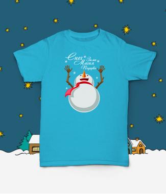 Футболка с принтом Магический Снеговик