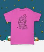 Футболка с принтом Счастливый Санта