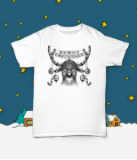 Футболка с принтом Merry Christmas Deer