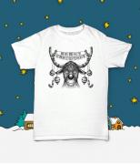 Футболка с принтом Merry Christmas Deer