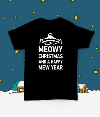 Футболка с принтом Meowy Christmas