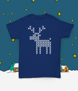Футболка с принтом Pixel Deer!