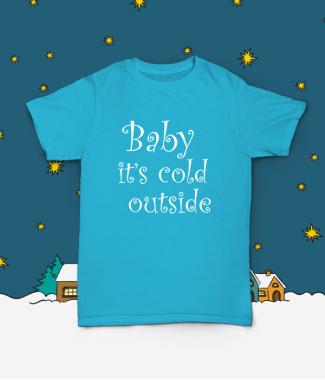 Футболка с принтом Baby it's cold outside