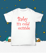 Футболка с принтом Baby it's cold outside