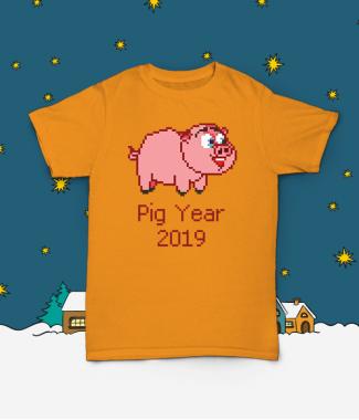Футболка с принтом Pig Year 2019