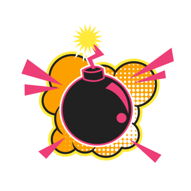 Футболка с принтом Bomb