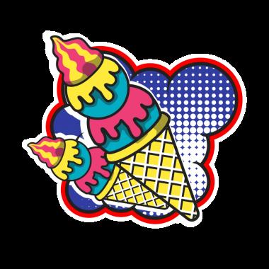 Футболка с принтом Ice-cream