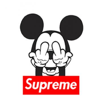 Свитшот с принтом Микки Маус Supreme