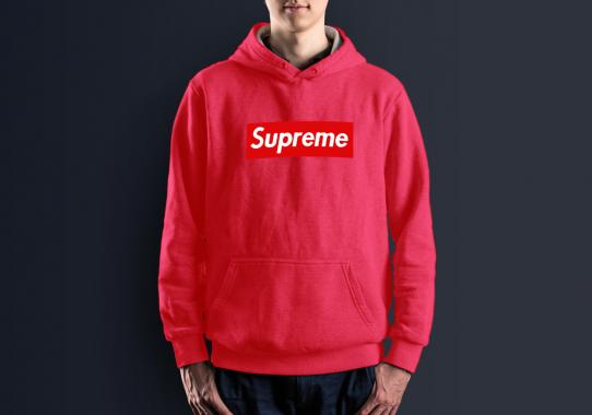 Худи с принтом Supreme