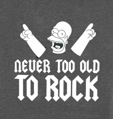 Футболка с принтом Never too old to rock