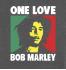 Женская футболка с принтом One Love Bob Marley
