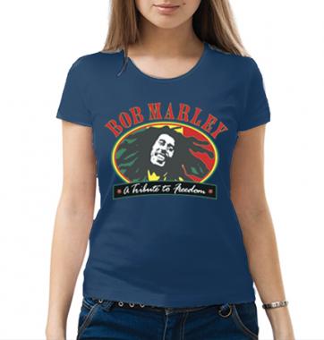 Женская футболка с принтом Bob Marley