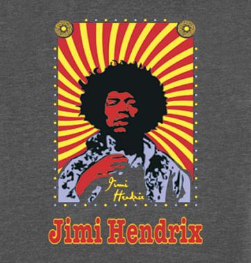 Футболка с принтом Jimi Hendrix