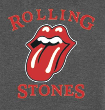 Женская футболка с принтом Rolling stones