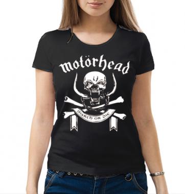 Женская футболка с принтом Motorhead
