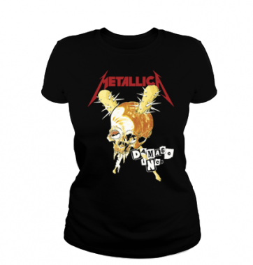 Женская футболка с принтом Metallica
