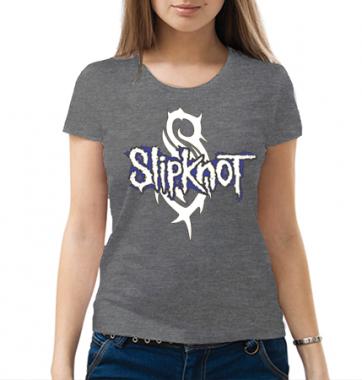 Женская футболка с принтом Slipknot