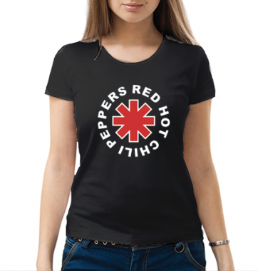 Женская футболка с принтом R.H.C.P
