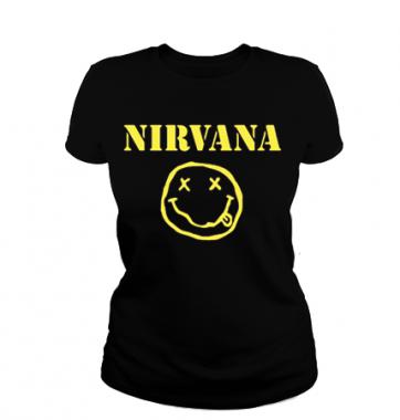 Женская футболка с принтом Nirvana