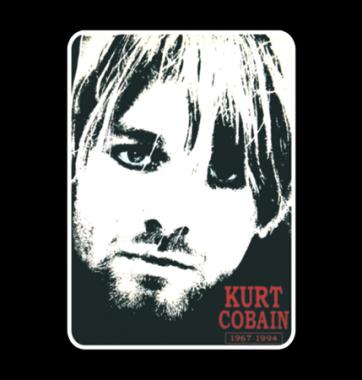 Футболка с принтом Kurt cobain