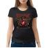 Женская футболка с принтом Valentine