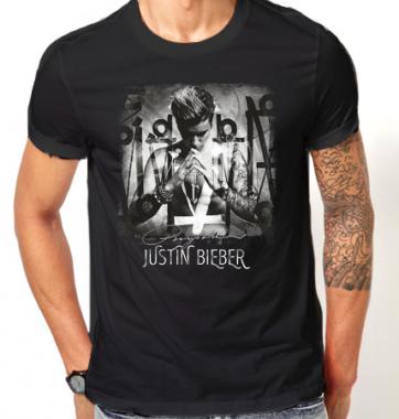 Футболка с принтом Justin Bieber
