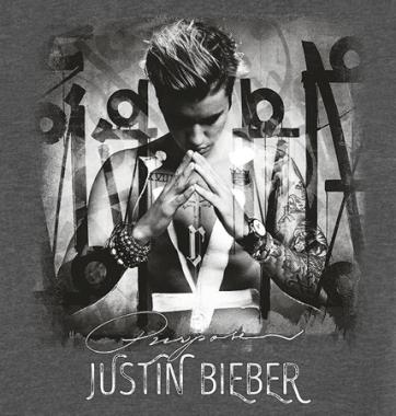 Женская футболка с принтом Justin Bieber